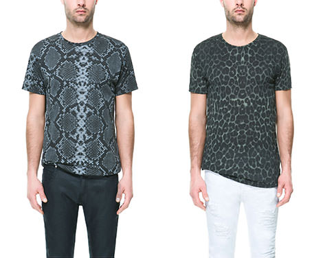 t-shirt animal zara