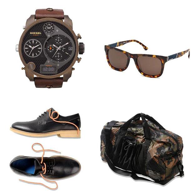 diesel accessoire montre lunette sac chaussure