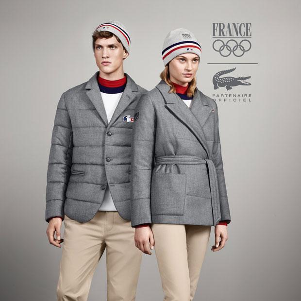 Tenue Lacoste cérémonie jeux olympiques