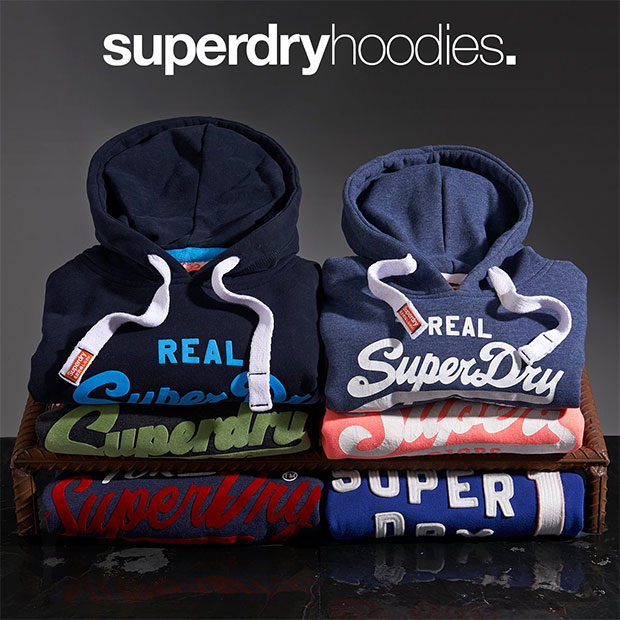 sweat capuche hoodie homme Superdry