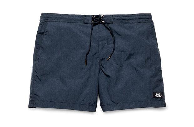 H&M Beckham short de bain bleu