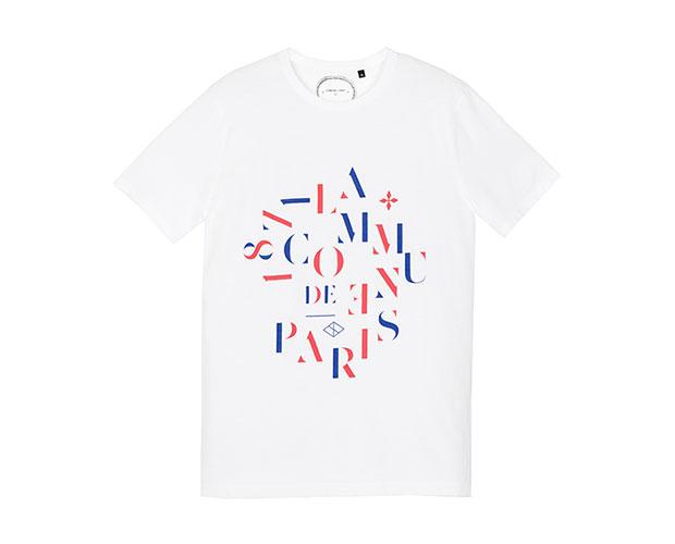 t-shirt commune de paris homme