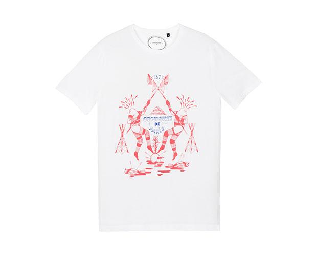 t-shirt commune de paris guillotine