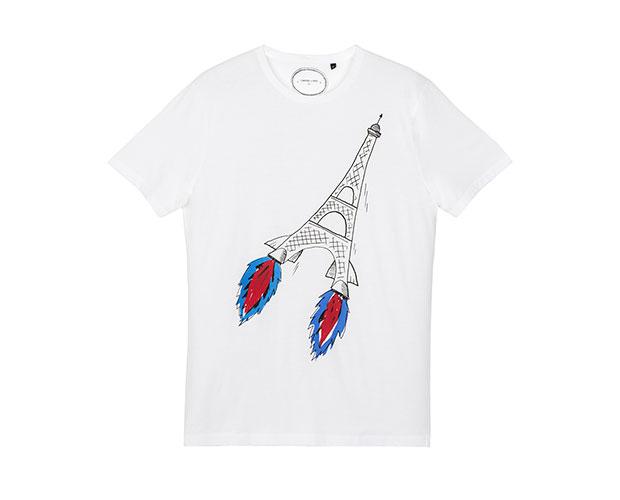 t-shirt commune de paris tour eiffel