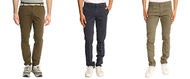 pantalon jean chino homme
