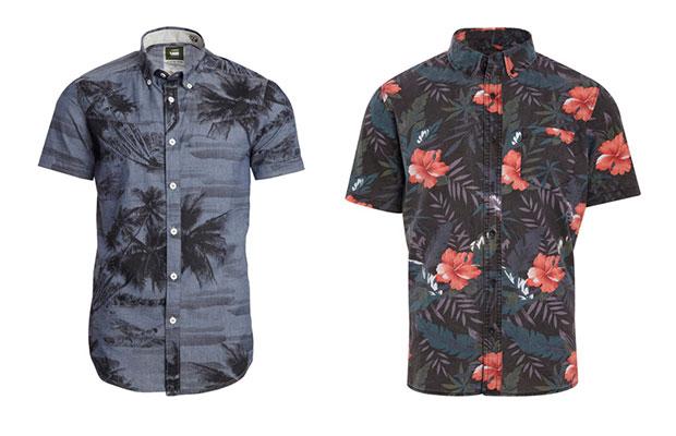 chemise motifs fleurs