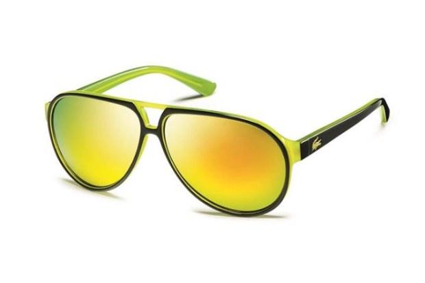 lunettes de soleil lacoste jaune
