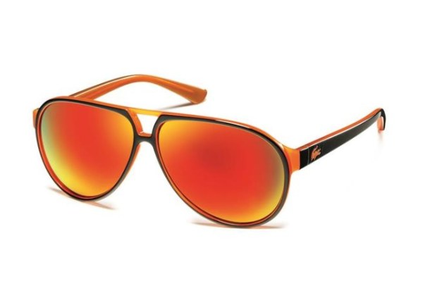 solaires aviator lacoste orange