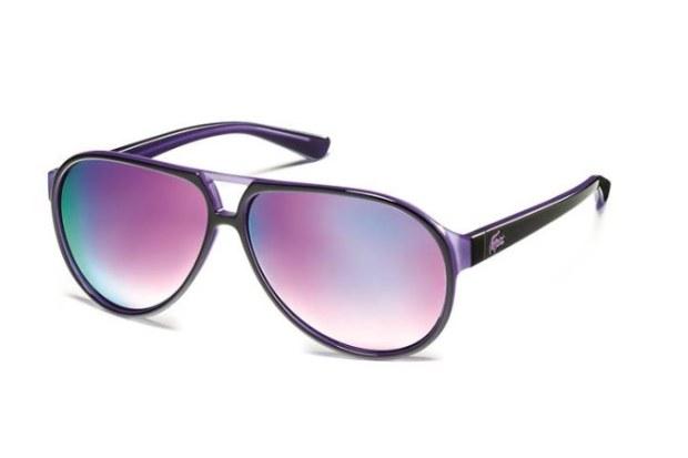 lunettes de soleil fluo violet lacoste