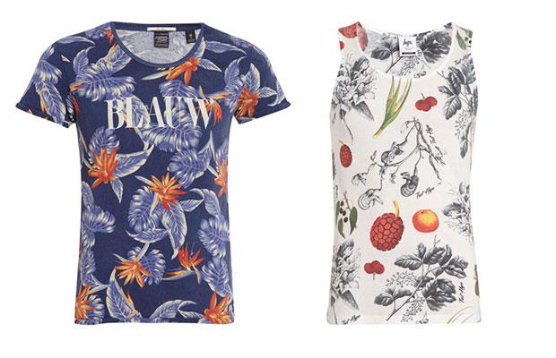 t-shirt et débardeur motifs fleurs