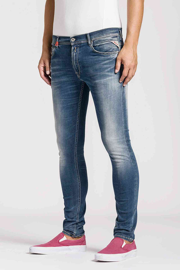 jean homme Replay Hyperflex skinny