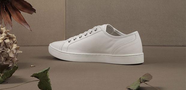 baskets blanches en cuir Dolce & Gabbana