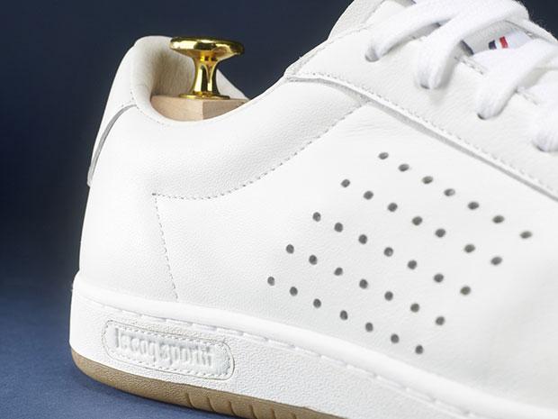 basket en cuir blanc Arthur Ashe par Le Coq Sportif
