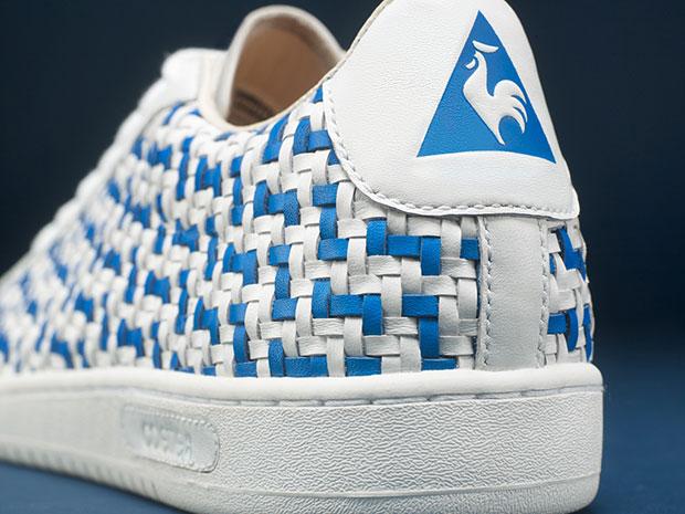 basket en cuir bleu blanc Arthur Ashe par Le Coq Sportif