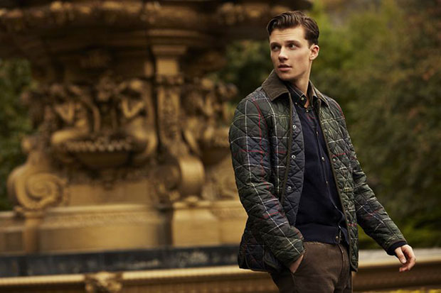 veste matelassée tartan Tissington Barbour