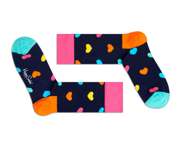 Chaussettes coeur Happy Socks