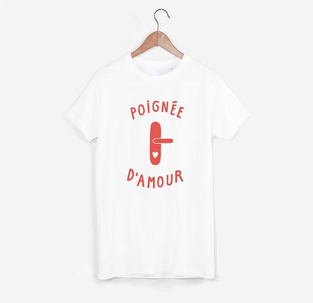 T-shirt Petits Plaisirs blanc