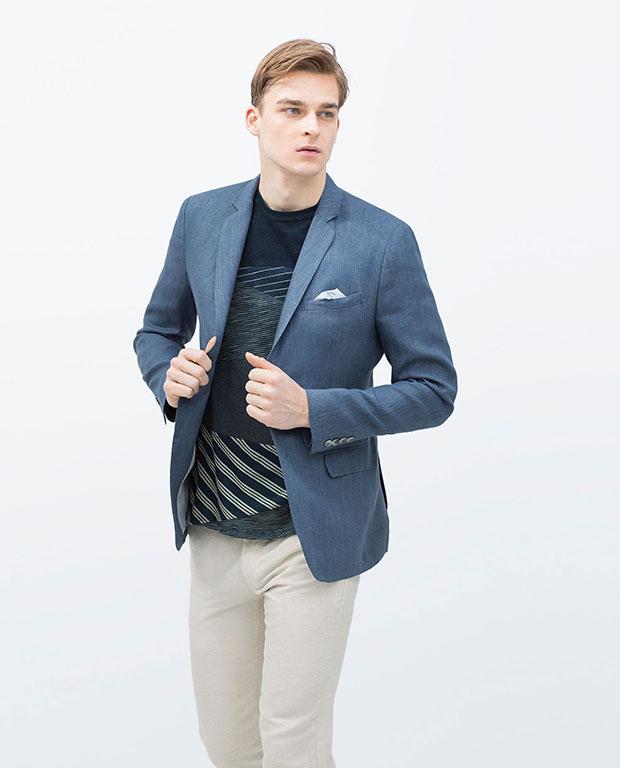 veste en lin homme Zara