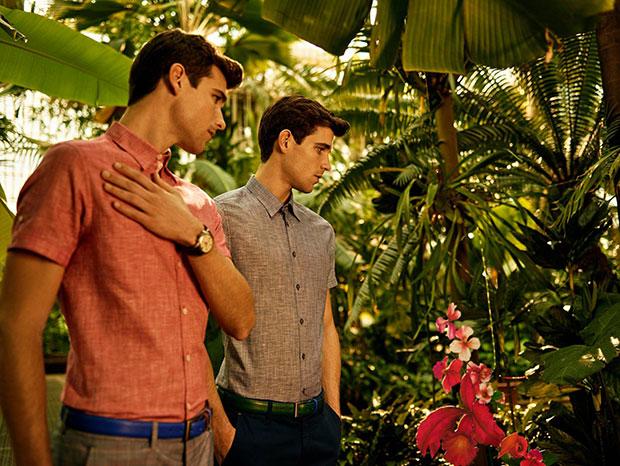 chemise courte en lin homme Ted Baker