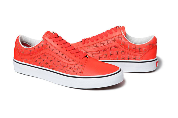 Supreme Vans sneakers rouge