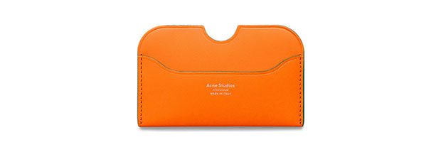 porte-cartes Elmas orange Acne Studios