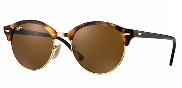 solaires Ray-Ban Clubround tortue