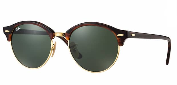 solaires Ray-Ban Clubround havane