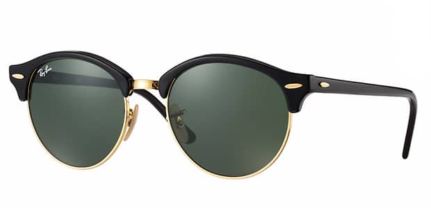 solaires Ray-Ban Clubround noir
