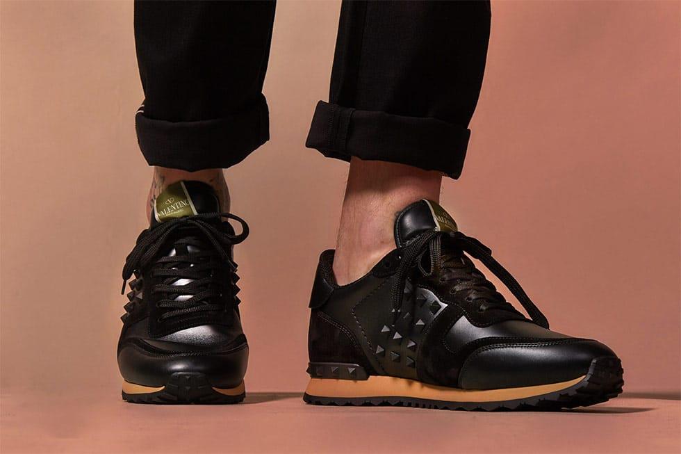 chaussures en cuir avec clous Valentino