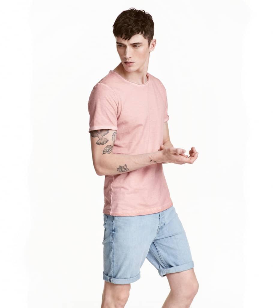 short délavé H&M