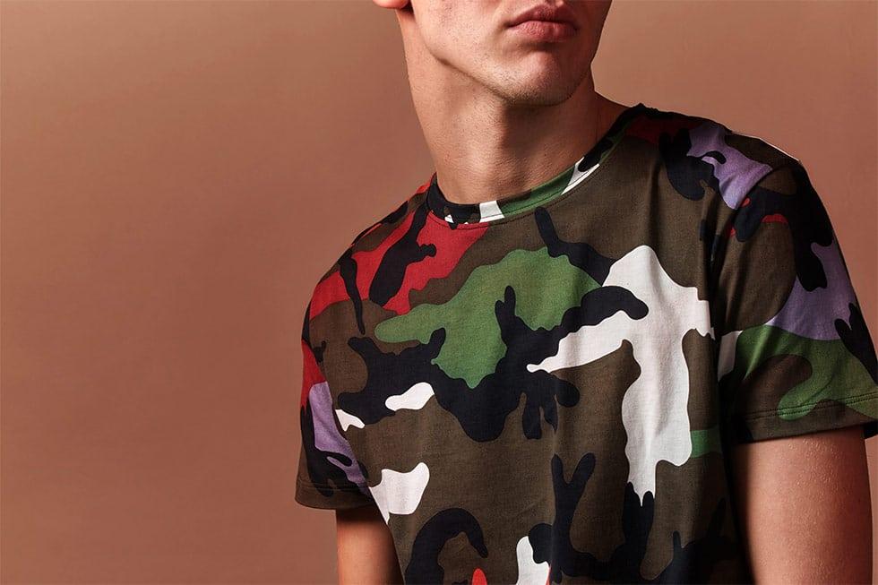 T-shirt camouflage Valentino