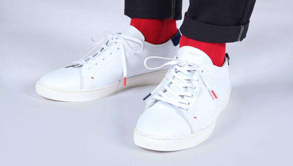 sneakers en cuir Faguo cocorico