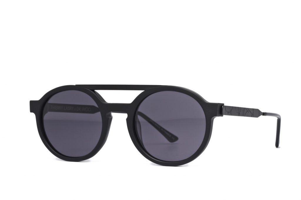 solaires noires Thierry Lasry Dr. Woo