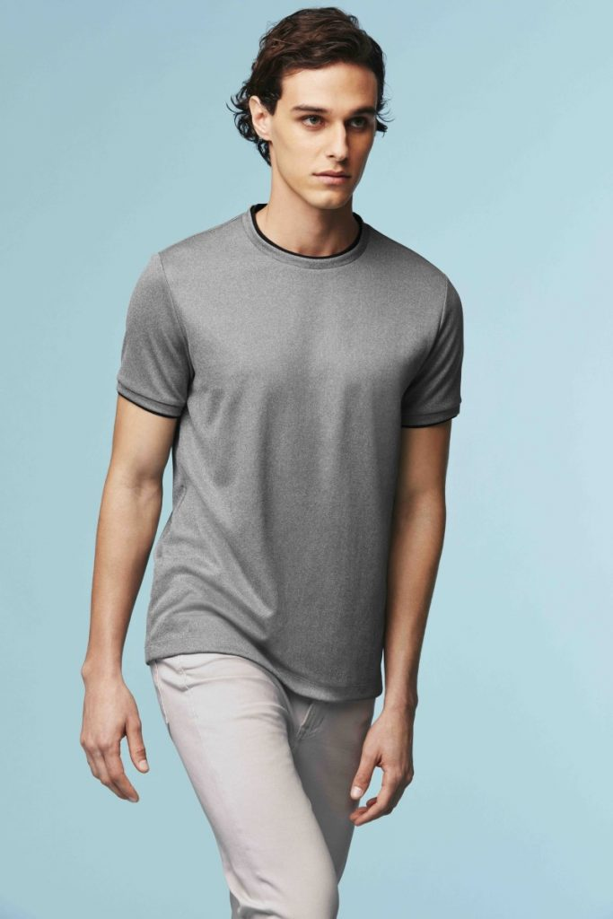 t-shirt gris Uniqlo Theory
