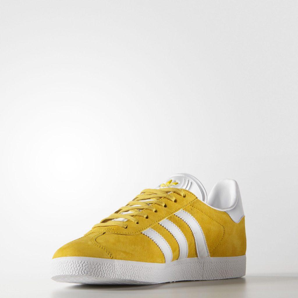 basket Adidas gazelle cuir jaune