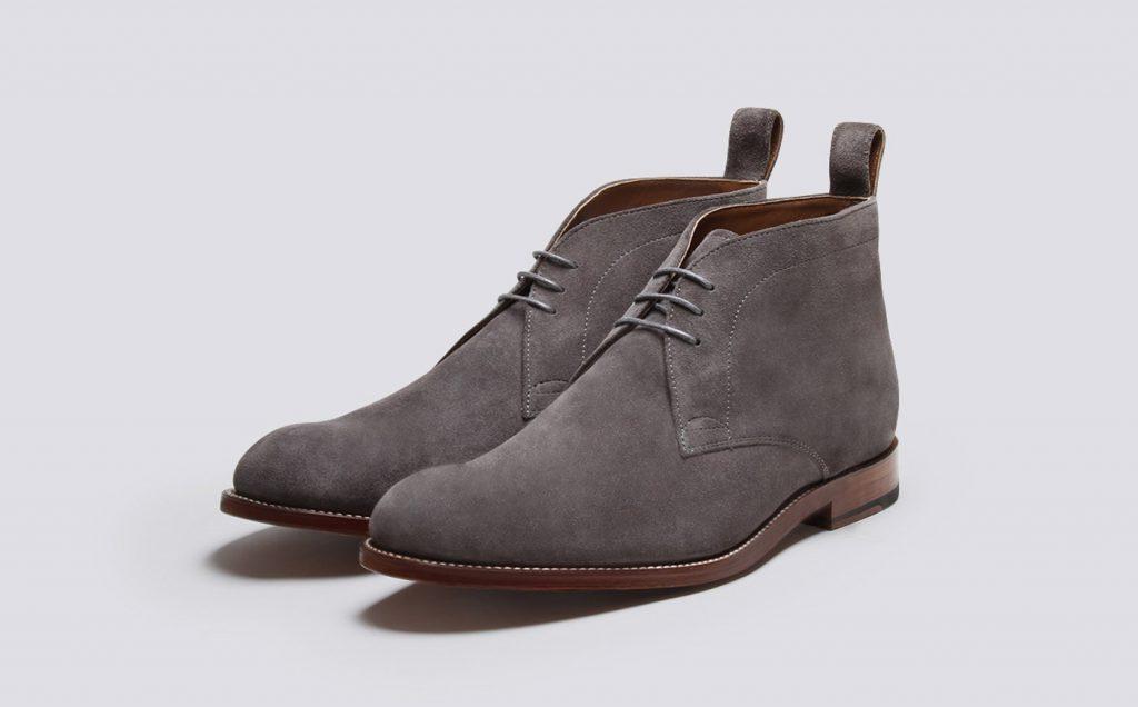 chukka boots en suède gris Grenson