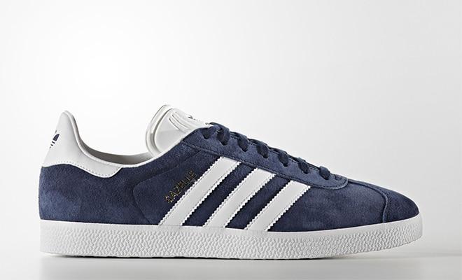 adidas gazelle cuir suede bleu