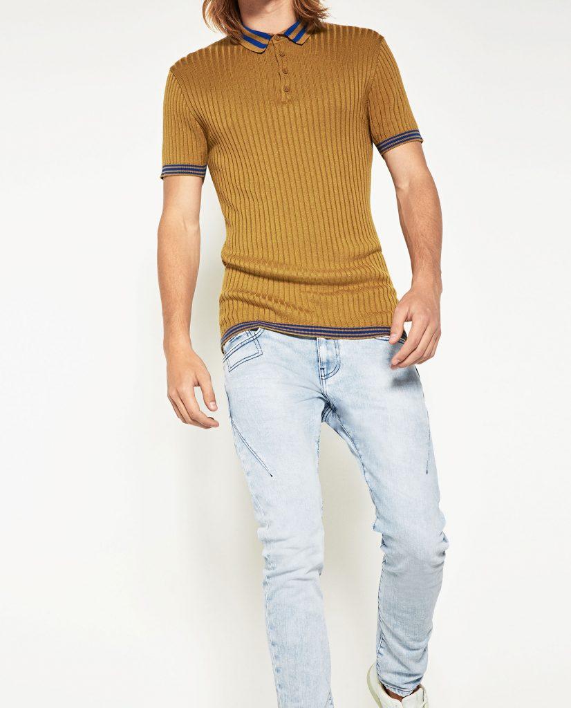 jeans bleu ciel nineties