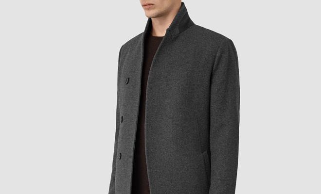 manteau en laine pour homme Allsaints