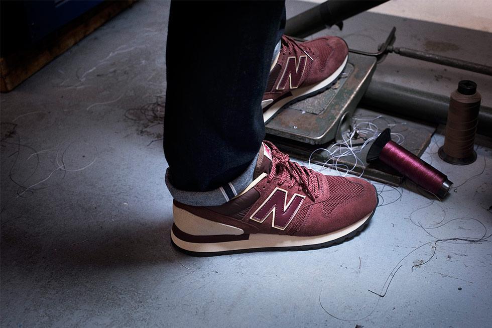 New Balance 770 suède bordeaux