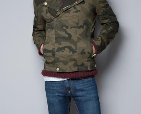 Veste camouflage Zara