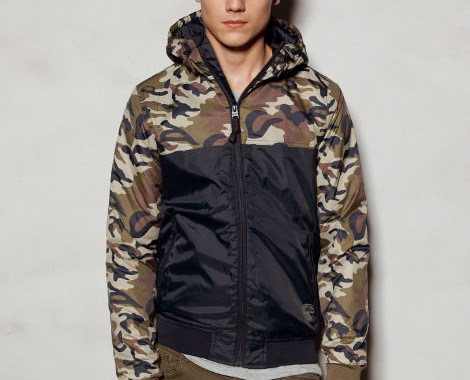 Veste camouflage pull and bear