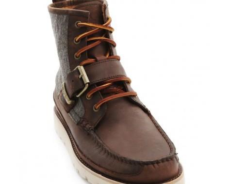 boots en cuir et laine polo ralph lauren