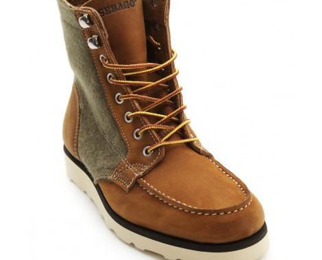 boots cuir et laine sebago