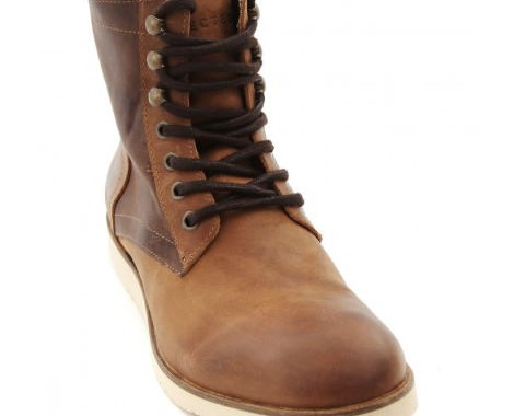 boots en cuir bicolore selected