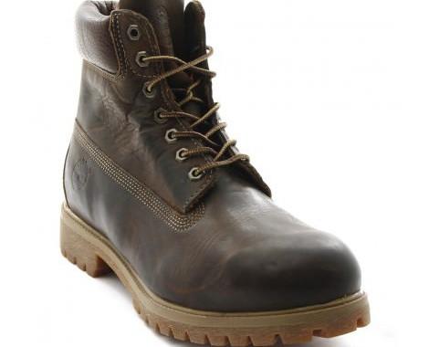 boots heritage en cuir marron foncée timberland