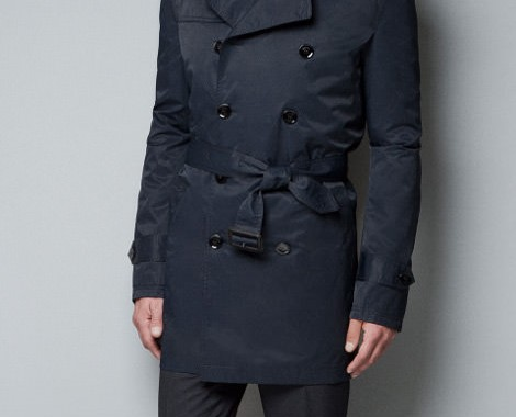 trench coat capuche zara