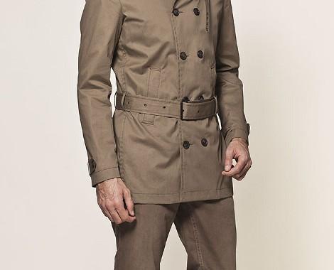 trench coat gabardine beige ikks