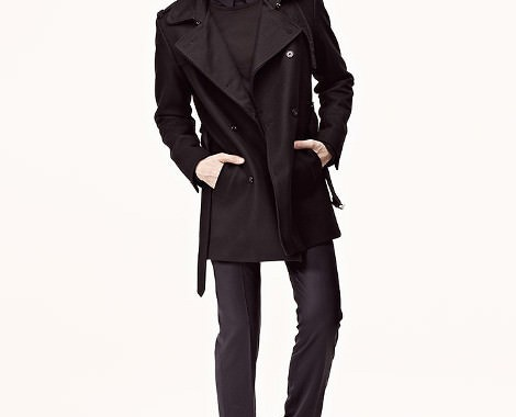 trench coat noir ikks