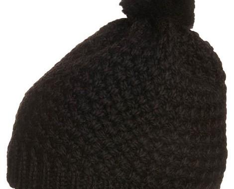 bonnet à pompon bula noir